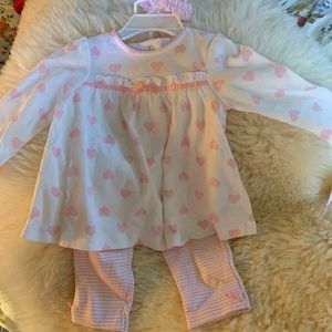 Little Me Dresses - Three piece baby Girl Set